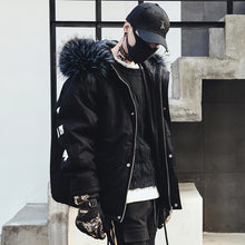 High Quality Winter Warm Thicken Printed Letter Zipper Coat Mens Hooded Parkas Hip Hop Street Casual Male Slim Overcoat Jackets