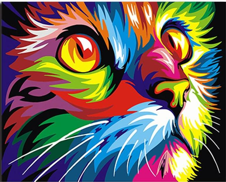 Paint By Numbers - DIY Color Cat CanvasShow Kit