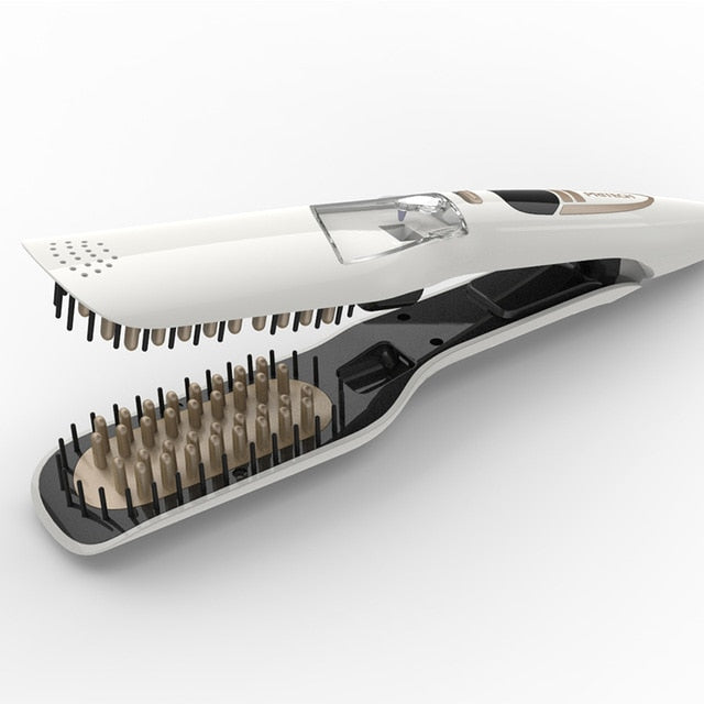 Steam Hair Ceramic Straightener - ( Professional Straightener )