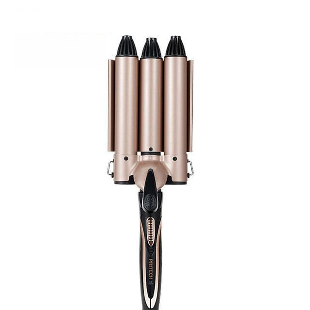 Professional Triple Barrel Ceramic Hair Curler