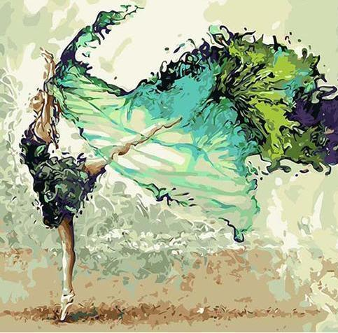 DIY Vibrant Dancer Paint-By-Numbers CanvasShow Kit Space Pebble