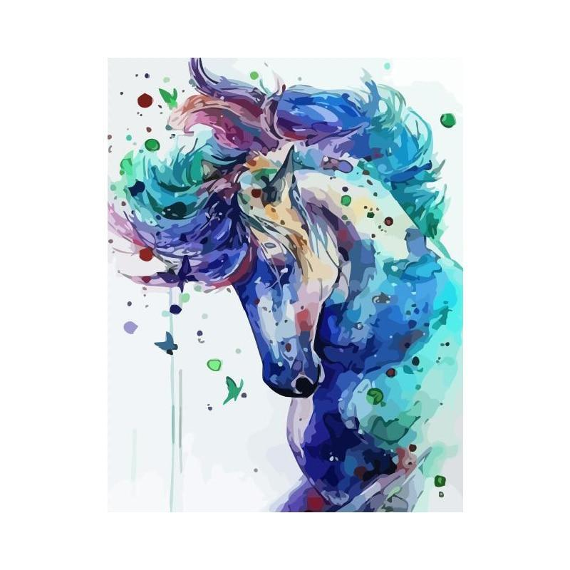 HD Printed Sky Horse CanvasShow Painting