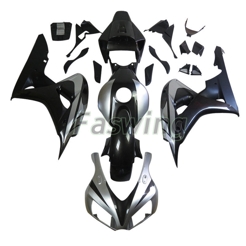 Fairings for Honda CBR1000RR 2006-2007 Silver Black