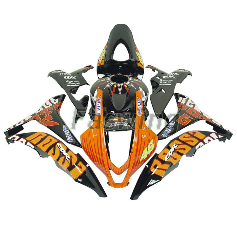 Fairings for Honda CBR600RR 2007-2008 Black Orange Valentino Rossi Racing