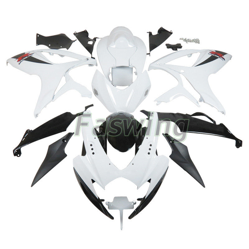 Fairings for Suzuki GSX-R600/750 2006-2007 White Black