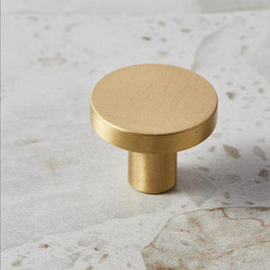 Solid Brass Round Drawer Knob - Alaynashome