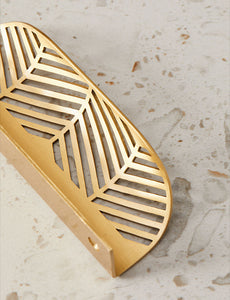Large Leaf Shaped Brass Drawer Pull - Alaynashome