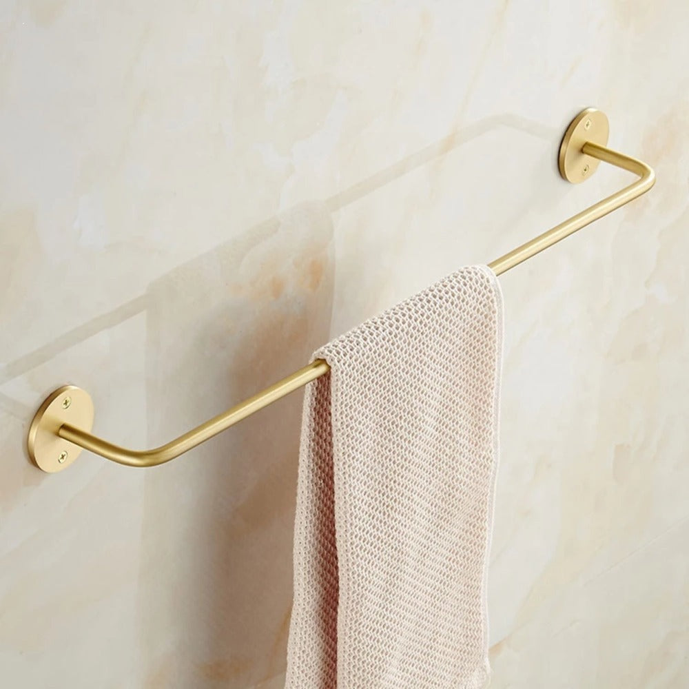 Solid Brass Towel Rod - Alaynashome