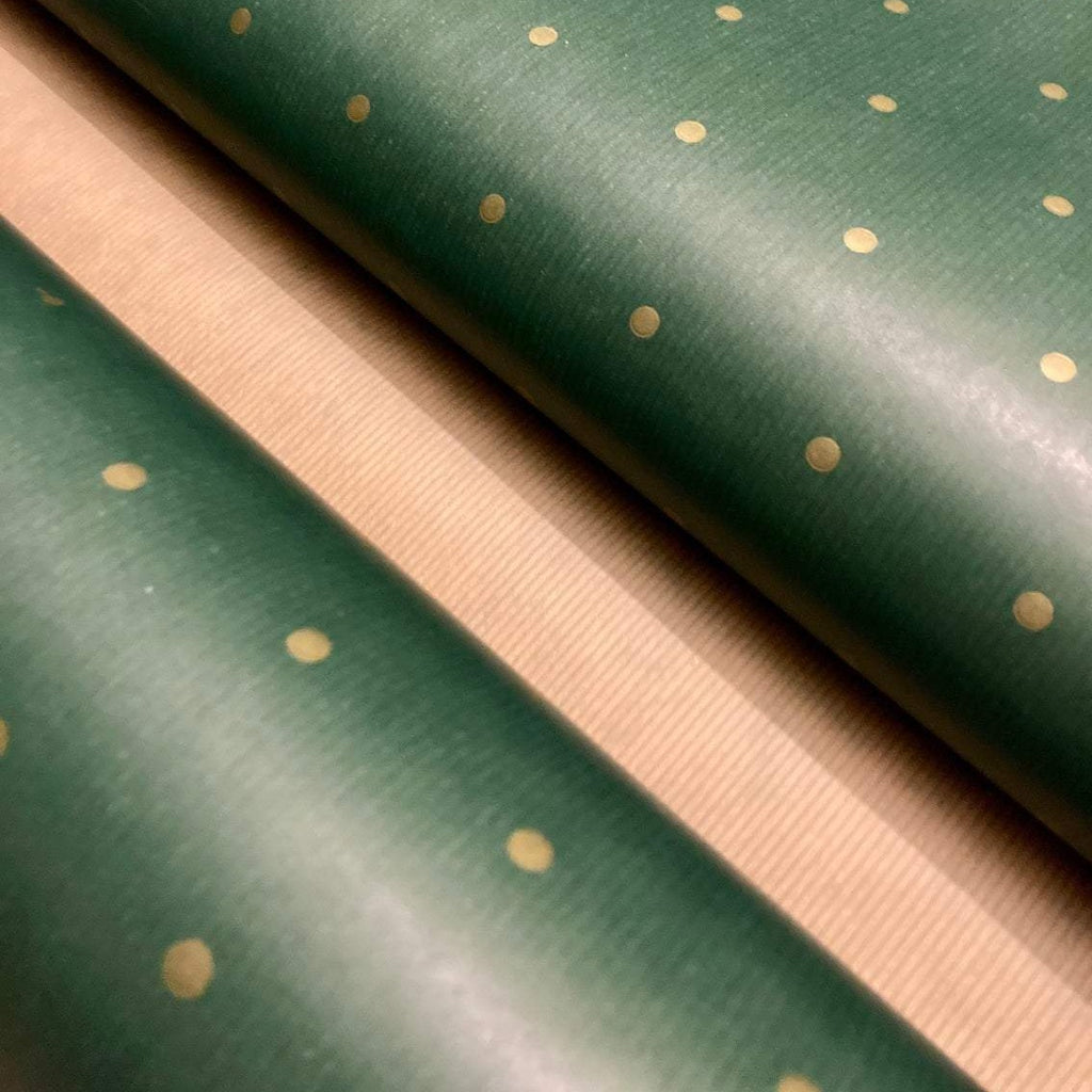 Green Polka Dot Kraft Wrapping Paper - Alaynashome