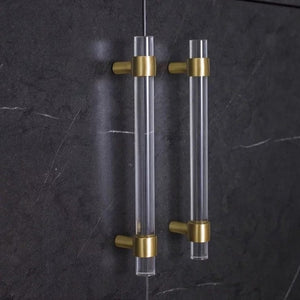 Gold and Lucite Drawer Handle - Alaynashome