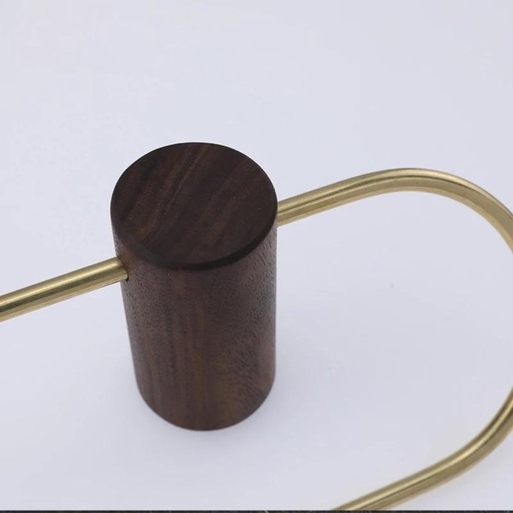 Walnut and Brass Toilet Roll Holder - Alaynashome