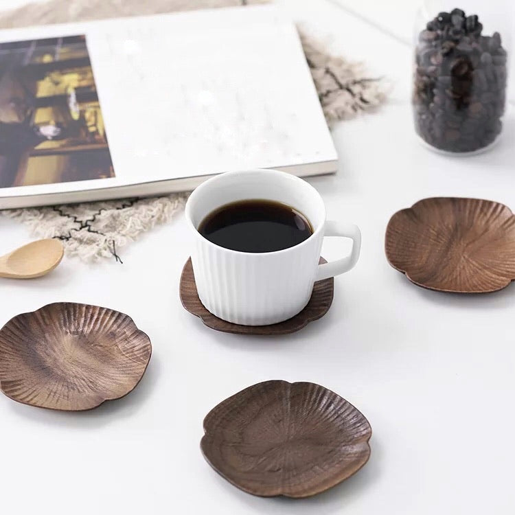 Walnut Wood Coasters (Set of 4) - Alaynashome