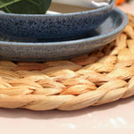 Round Water Hyacinth Placemats (Set of 2) - Alaynashome