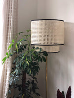 Double Tier Rattan Pendant Lamp or Ceiling shade - Alaynashome