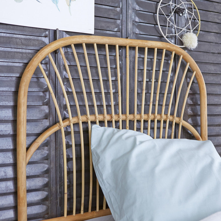Single Colette Rattan Headboard - Alaynashome