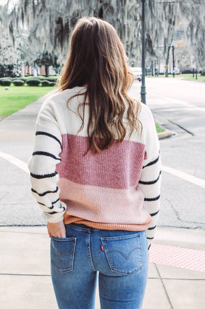 Ginger Block Color Sweater