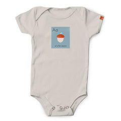 "OUTLET- ""A is for Acorn"" Organic Onesie"