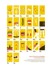 Cyclist's Alphabet Limited-Edition Print