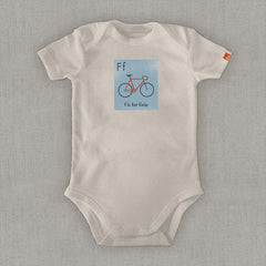 "OUTLET- ""F is for Fixie"" Organic Onesie/Tee"