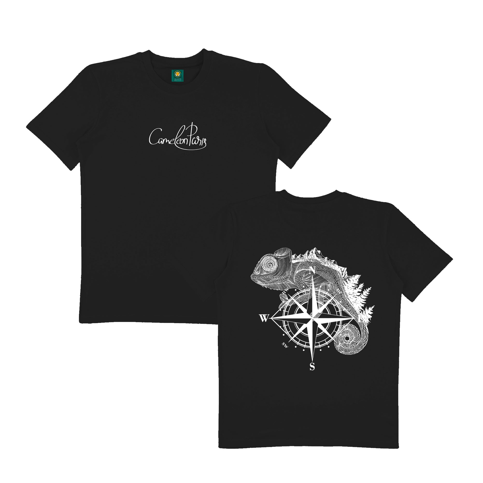 THE ADVENTURER - BLACK TEE SHIRT