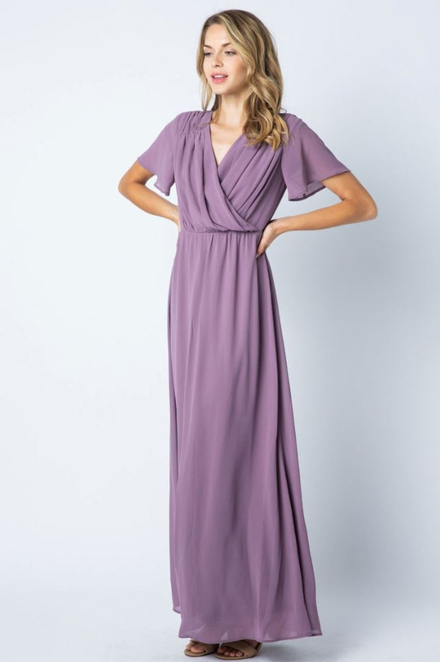 Lilac Bridesmaid Maxi Dress