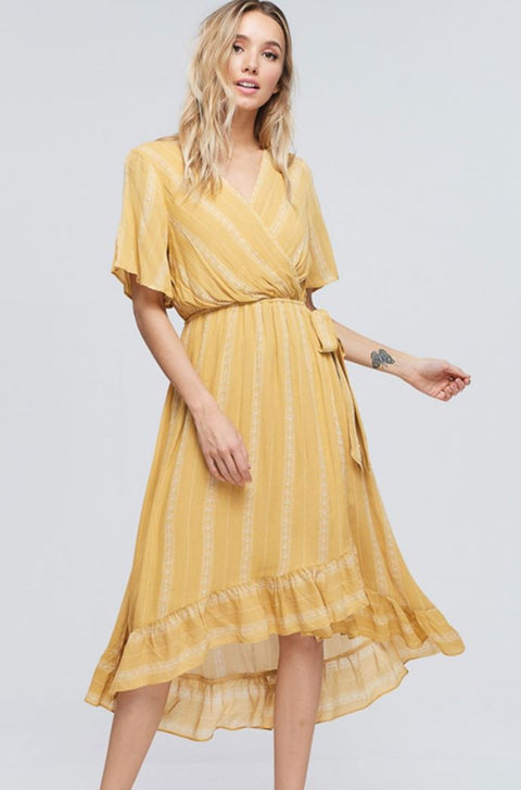 The Camille Ruffled Midi Dress