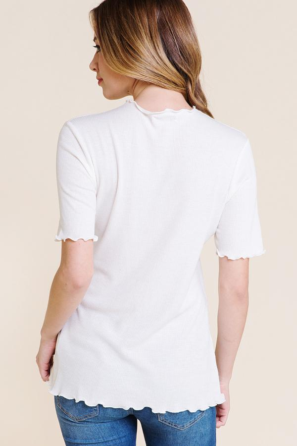 The Ella Mock Neck Top