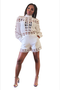 Dinner on the water- White romper - Khoris Kloset