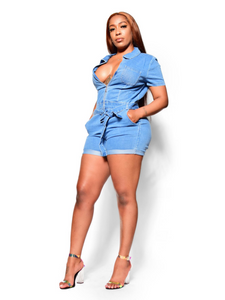 How I'm feeling- denim romper - Khoris Kloset