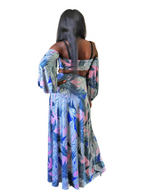 Load image into Gallery viewer, Exotic on the beach- Tropical print maxi set - Khoris Kloset