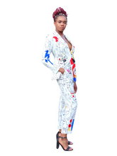 Load image into Gallery viewer, Creative Masterpiece- White two piece pant suit - Khoris Kloset