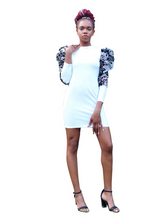 Load image into Gallery viewer, I thought a broke bih said sumn'- Bodycon mini dress - Khoris Kloset