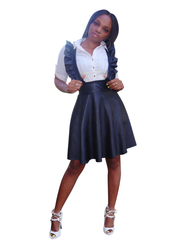 Corporate Spice-Frill detailed Pinafore - Khoris Kloset