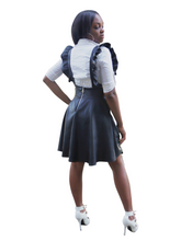 Load image into Gallery viewer, Corporate Spice-Frill detailed Pinafore - Khoris Kloset