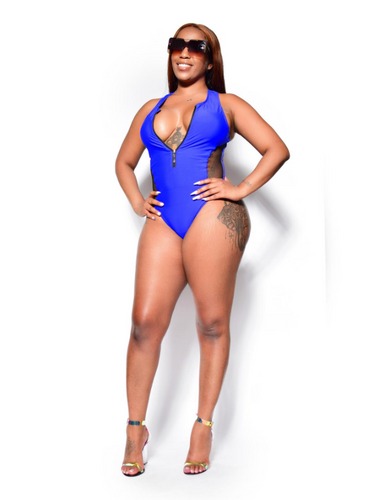 Cancun trippin'- Whole piece zip up bathing suit - Khoris Kloset