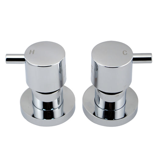 Pentro Chrome Round Shower Taps
