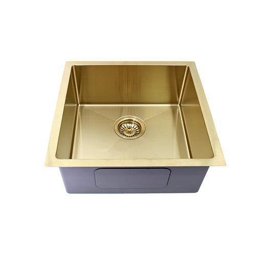 BRUSHED BRASS SINGLE SINK