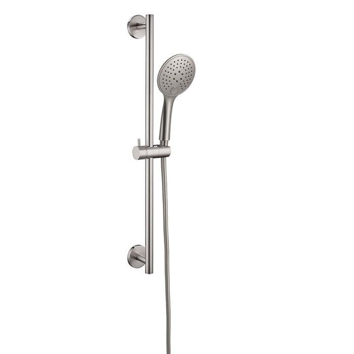 RAIN SHOWER RAIL WITH PUSH BUTTON SHOWER