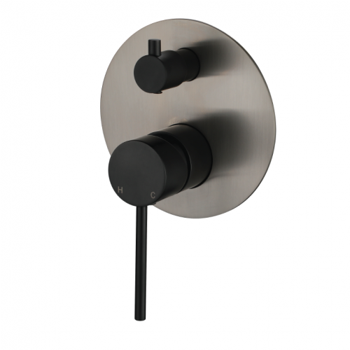 STRM009NB1 Star Mini Shower Divertor PVD Brushed Nickel & Matt Black
