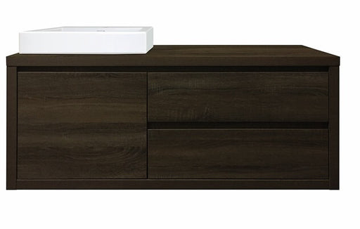 Bloc 1200 Wall Hung Vanity in Dark Chocolate