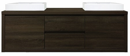 Bloc 1500 Wall Hung Vanity in Dark Chocolate