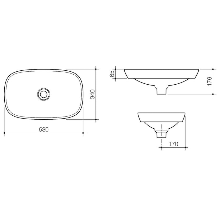 Contura 530 Solid Surface Inset Basin
