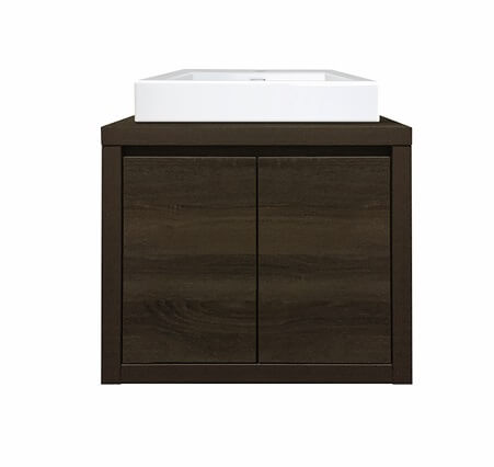 Bloc 600 Wall Hung Vanity in Dark Chocolate