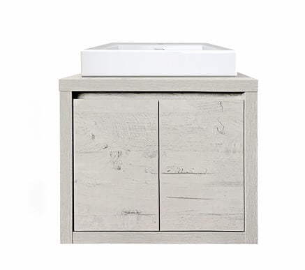 Bloc 600 Wall Hung Vanity in Light Ash