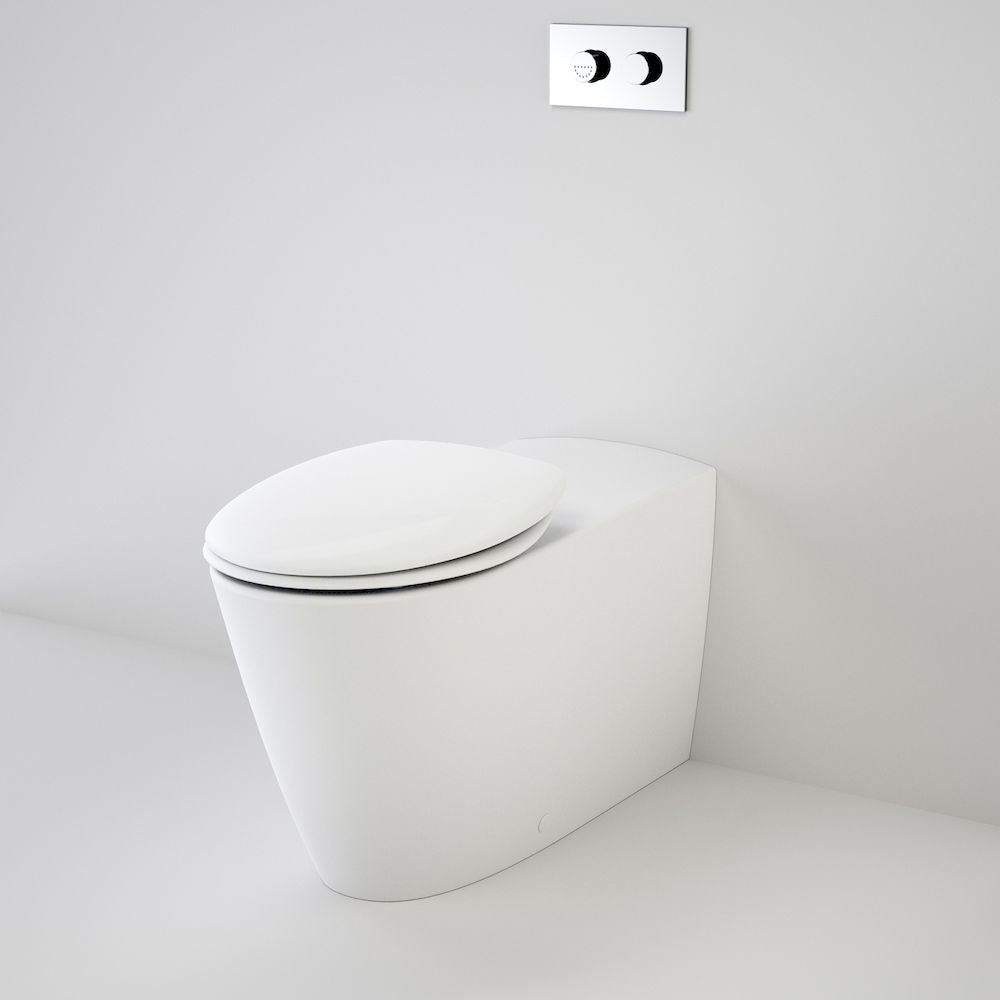 Care 800 Cleanflush® Wall Faced Invisi Series II® Toilet Suite with Double Flap Seat