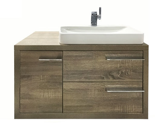 Metro Wall Hung Vanity 900 in Walnut