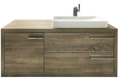 Metro Wallhung Vanity 1200 in Walnut