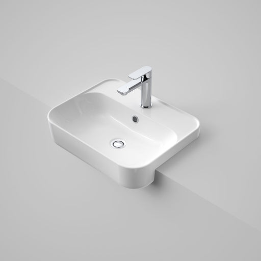 Sculptural Semi Recessed Basin 1 Taphole 500mm