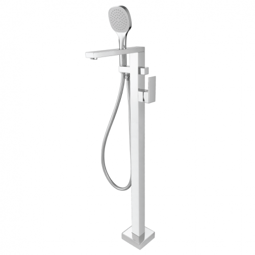 Freestanding Bath Mixer With Hand Shower Chrome