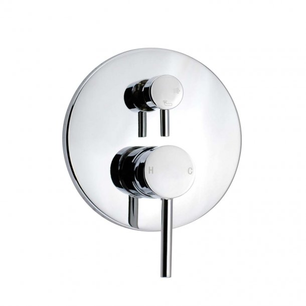 Chrome Wall Mixer with Diverter